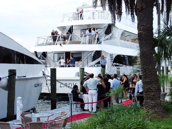 Yacht Party on boat and also on dock